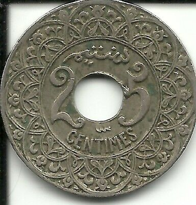 Morocco   25 Centimes 1924 Y# 34  (French PROTECTORATE)