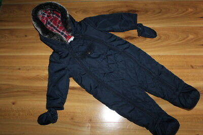 M&S boys navy snowsuits with mittens 9-12 months  *I'll combine postage