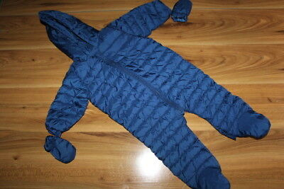 NEXT boys navy thin snowsuits pramsuits 9-12 months  *I'll combine postage