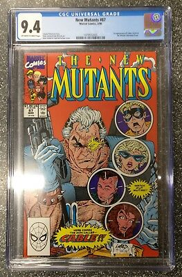 New Mutants #87 CGC 9.4 1st Cable