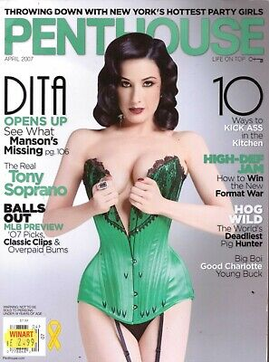 Penthouse Magazine April 2007 Mens Adult Glamour Magazine Dita Von Teese.