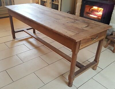 Antique Cherry Wood Farmhouse Table.