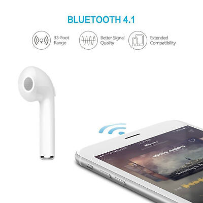 Bluetooth Earbud Headset Wireless Earphone Headphone for Apple 8 7.6s,6, SAMSUN