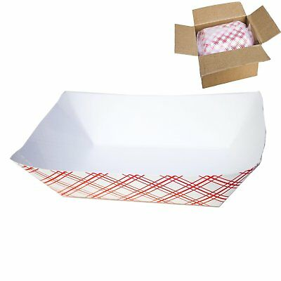 50 Pack Disposable Paper Food Trays Food Serve Containers Nachos Fries Hot Dogs