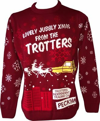 Only Fools and Horses Official Knitted Christmas Jumper (Van) STU