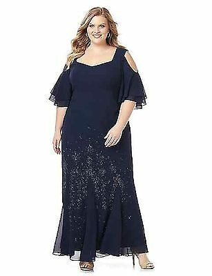 CATHERINES PLUS SIZE Midnight Dream Gown DRESS 24W BLUE