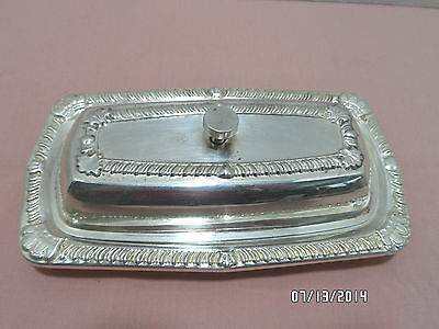 Vintage Silver Plate Butter Dish With Glass Insert by Kirk's LTD, A-1 Plate