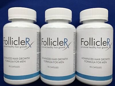 3 X  FOLLICLERX  Promote Healthy Hair Growth-Follicle RX Hair Growth Formula