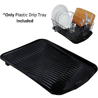 plastic drip tray dish drainer drain board kitchen sink drying rack holder picclick. Black Bedroom Furniture Sets. Home Design Ideas