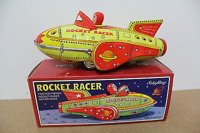 Rocket Racer Schylling China Friction Sound old Tin Blech Box