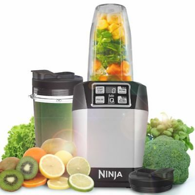 Nutri Ninja BL480UK with Auto-iQ 1000W Extraction Blender & Smoothie Maker