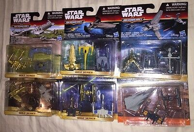 Star Wars Micromachines Gold Series Lot Starfighter Assault Empire Defeat Clone