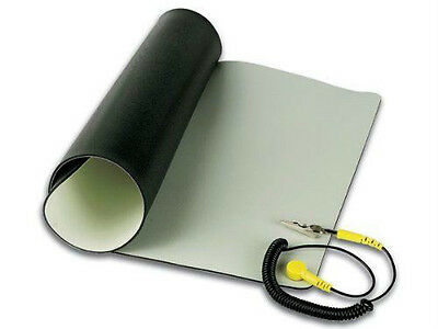 """Velleman Anti Static Mat With Ground Cord 11.8"""" X 22""""/AS4"""
