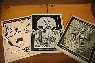 Vintage SABR Annual Membership Directory Society for American Baseball Research