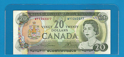 1969  Bank Of Canada $20  BC-50b  WY1262377  Lawson / Bouey  Circulated