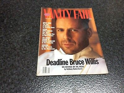 VANITY FAIR JANUARY 1991 , SOPHIA LOREN , BRUCE WILLIS   Magazine VINTAGE