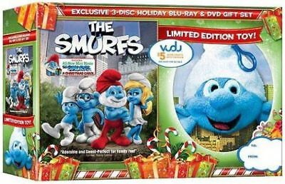 The Smurfs: Exclusive Holiday Gift Set - Limited Edition Toy Blu-Ray & DVD NEW
