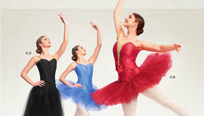 NIP Prima Red Boned Ballet Bodices Curtain Call Costumes 14C Teen Adult Size