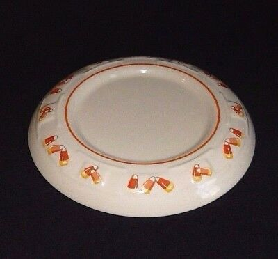 Longaberger Pottery USA Pillar Candleholder Candle Holder Candy Corn Pattern