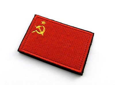 Patch printed embroidered travel souvenir flag urss cccp societ union russia