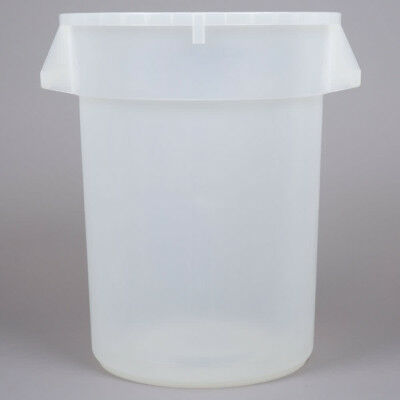 32 Gallon Clear White Commercial Plastic Trash Can Ingredient Bin