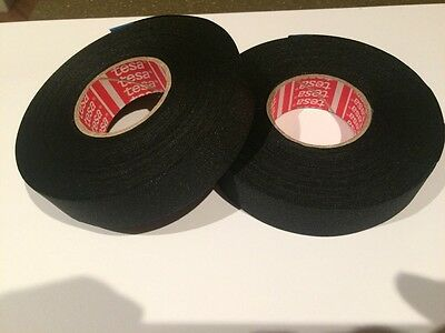 TESA 51036 19mm x 25m, High Temp Adhesive Cloth Tape cable looms,wiring harness