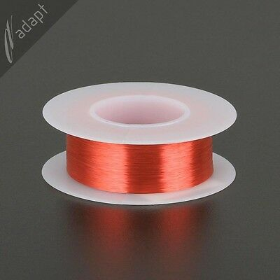 Magnet Wire, Enameled Copper, Red, 40 AWG (gauge), 130C, ~1/8 lb, 4000 ft