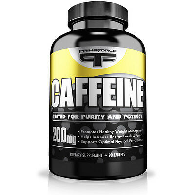 Primaforce Caffeine 90 Tablets 200 mg Quality Brand !!! FREE POST!!! allmax