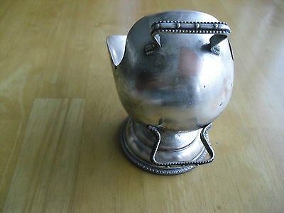 Antique Silver Sugar Bowl England tableware dinnerware round base two handle