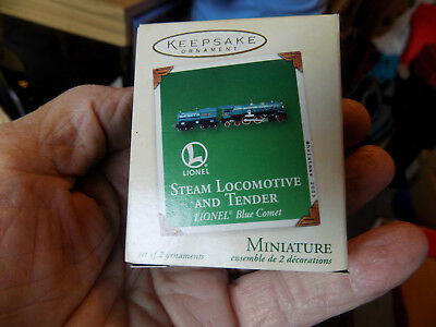 Hallmark Ornaments Mini Lionel Steam Locomotive And Tender Setof2 Qxm4887