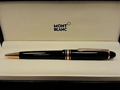 MONTBLANC Meisterstuck Large Le Grand Red / Rose / Pink Gold Ballpoint Pen, NEW!