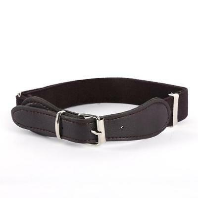 Brown Toddler Baby kids Boy Girl PU Leather Belt Elastic Waistband Adjustable
