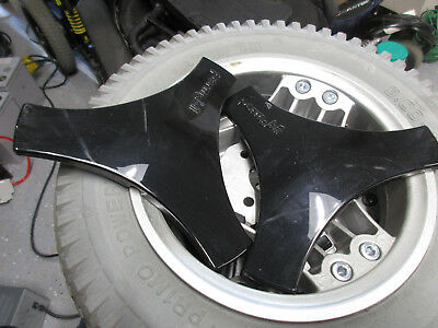 pair of Permobil rims with black centers power wheelchair wheels 8.00-3
