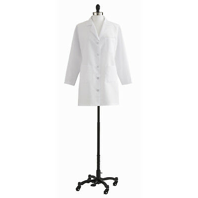 Medline Ladies' Classic Staff Length Lab Coat, White (Size 2 - 36)