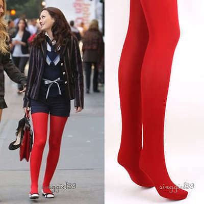 New Red Opaque Colour Tights/Hosiery/Stockings