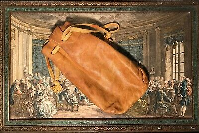 VINTAGE leather bag, small, good condition, Tan/Yellow Orange