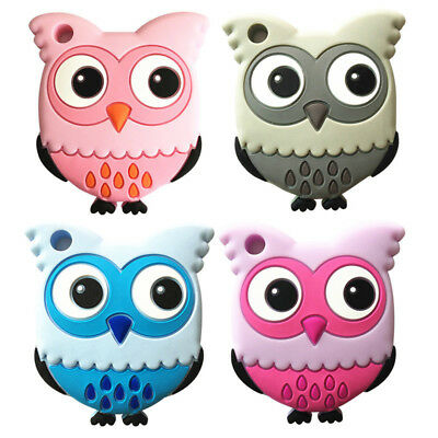 Safety Food Grade Silicone Owl Baby Teething Chew Toy Teether Grind Baby Teeth