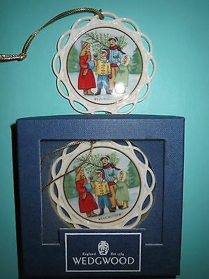 Wedgwood Christmas Ornaments White Jasper Family Tradition 2 ornaments in 1 box