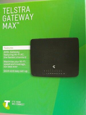 Telstra Gateway Max ADSL 2 WiFi  LIKE NEW Only used 2 Months