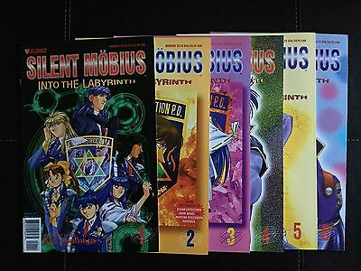 Silent Mobius-Into The Labyrinth (1995, Viz) Lot of 6 Issues  #1,#2,#3,#4,#5,#6