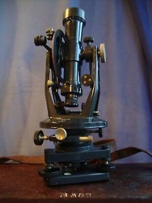 Theodolite Precision tool by E.R. Watts and Son of London original box & key