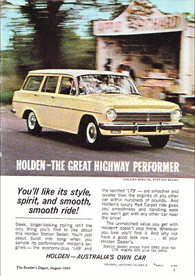 """1964 EH HOLDEN SPECIAL STATION WAGON A4 POSTER GLOSS PRINT LAMINATED 11.7""""x8.3"""""""