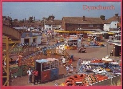 Children's Fun Fair - Dymchurch Kent England - Unused Postcard