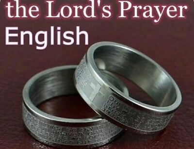 Christian ring for English praying bible new without tags choose sizes