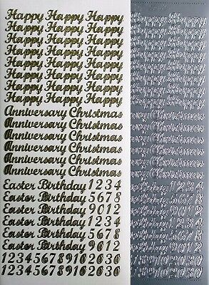 Happy Christmas Anniversary Easter Birthday PEEL OFF STICKERS Numbers