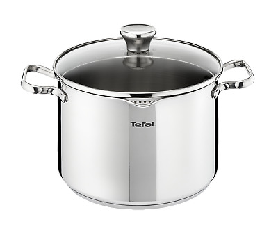 TEFAL A7056485 Duetto Edelstahl 28 cm INDUKTION Suppentopf mit Deckel