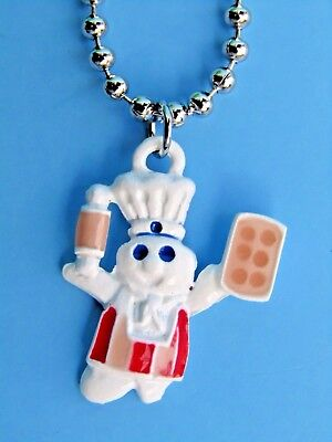 NEW 1996 Pillsbury Doughboy Baker Rolling Pin Necklace - Poppin Fresh