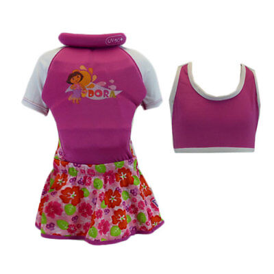 *NEW* Girls Pink DORA 3-in-1 Swimming Swimsuit Float Suit Size 3-4