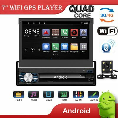 "7"" 1DIN Autoradio 1080P Android Bluetooth GPS Car Stereo App MP3 Player FM Radio"