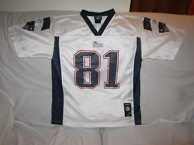 Nfl New England Patriots Reebok Jersey Youth Size Large #81 Moss